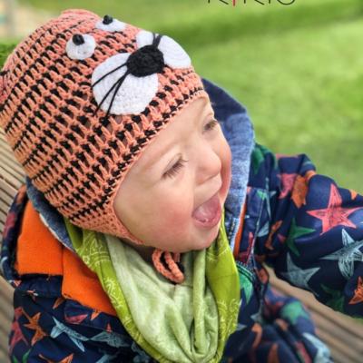 Jarná čiapka - Tigrík, vhodná aj pre malé Onkoláčičky 😍 a malých Onkoláčikov 😍