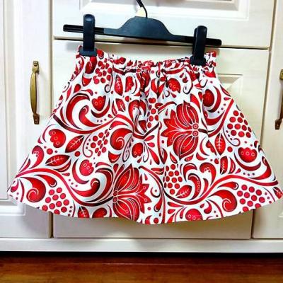 Detská folk suknička červená