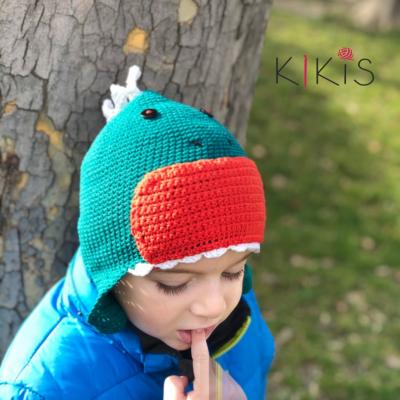 Jarná čiapka - Drak, vhodná aj pre malé Onkoláčičky 😍 a malých Onkoláčikov 😍