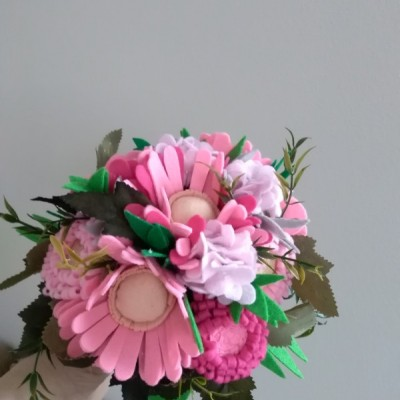 Gratulačná kytička ružová