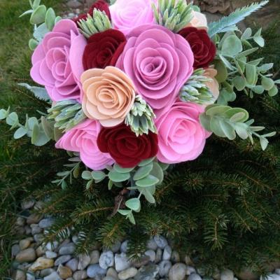 Luxusná gratulačná kytica