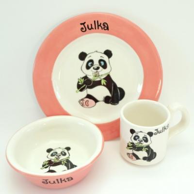 Hrnček, miska a tanier - panda