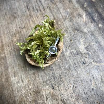 Strieborný prsteň s Kordieritom