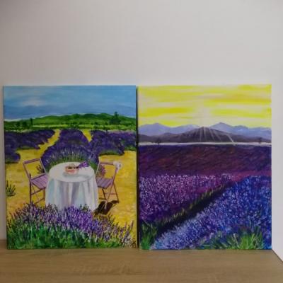Môj maľovaný obraz na plátne