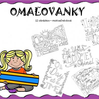 Omaľovanka- motivačné slová