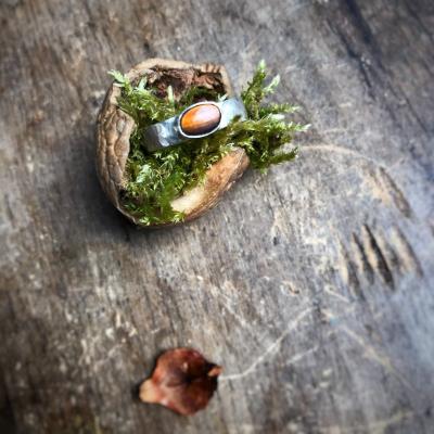 Strieborný prsteň Tygrie oko