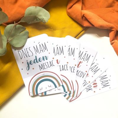 Rainbow mílnikové kartičky