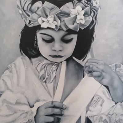 Maľovaný obraz zo série MOMENT
