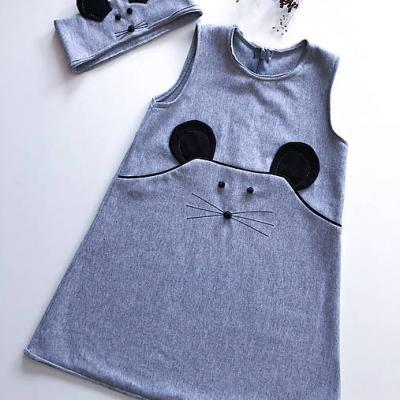Šaty+ čelenka  Myška