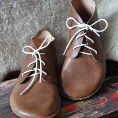 Bohošky- Barefoot členková topánka na mieru od 38 do velkost cca 42