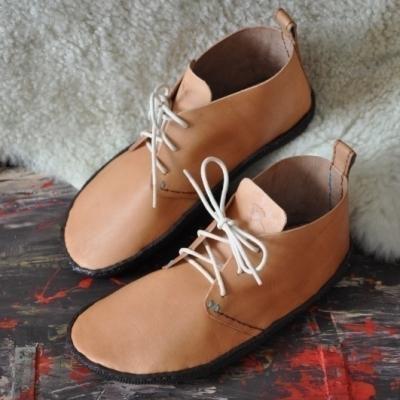Bohošky No.2 - Barefoot členková topánka na mieru od 38 do velkost cca 42