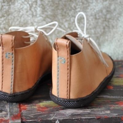 Bohošky NATUR - Barefoot členková topánka na mieru velkost L