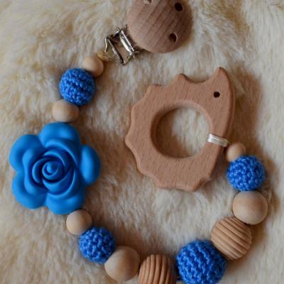 Hryzátko modrá ružička