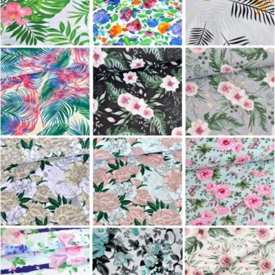 Vzorkovník - bavlna vzory, kvety