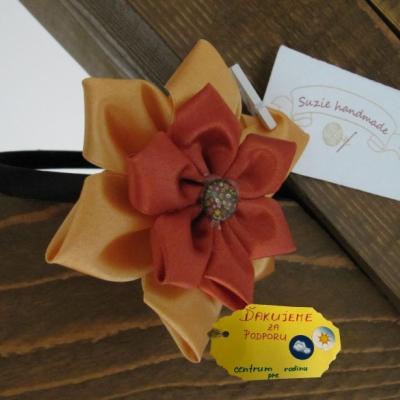 Čelenka - Oranžový kvet