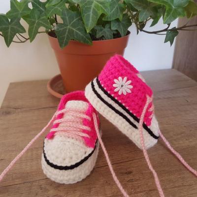 Ružové tenisky s kvetinkou