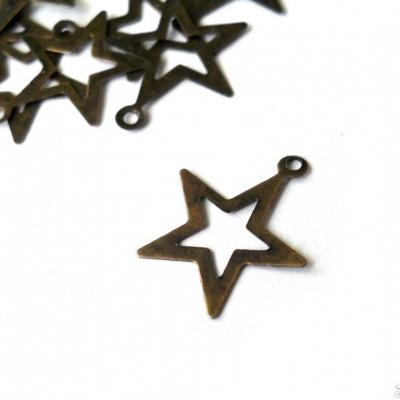Bronzová hviezda prívesok 10 ks