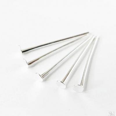 Ketlovacie nity 20 mm strieborné - 20 ks