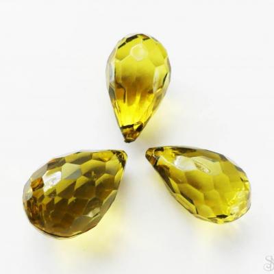 Olivové slzové korálky 31 mm - 1 ks