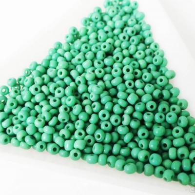 Korálky rokajl zelená 11/0 - 10 g