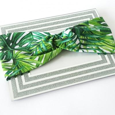 Turbanová čelenka - palmy