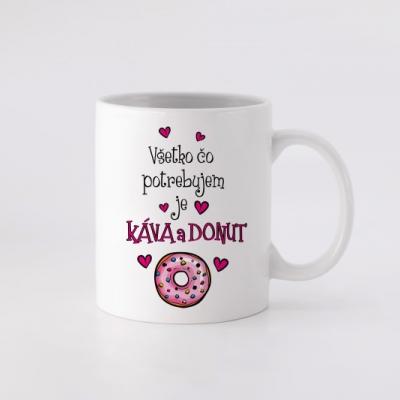 Hrnček - Káva a donut