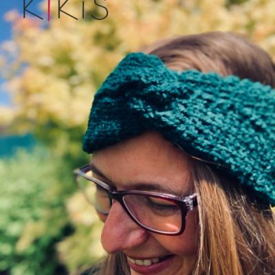 Dámska čelenka - Smaragdová prekrížená