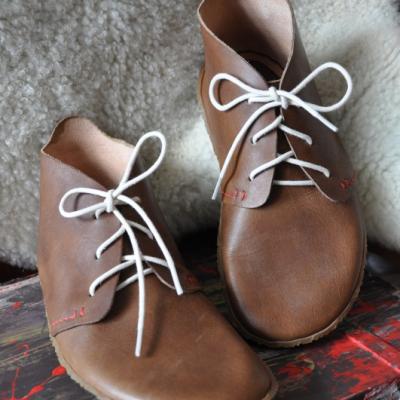Barefoot členková topánka na mieru do velkost cca 37