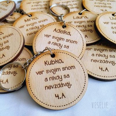 Kľúčenka s citátom na pamiatku