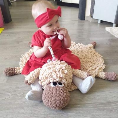 Puffy koberček ovečka