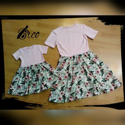 Set šaty mama a dcéra