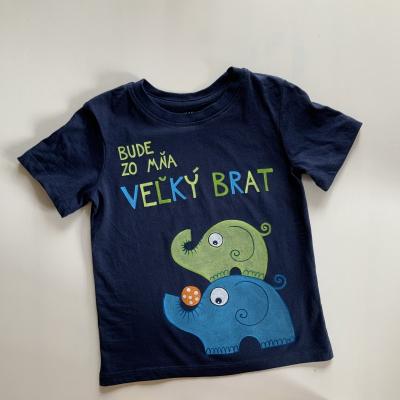 Maľované tričko pre VEĽKÉHO BRATA so sloníkmi