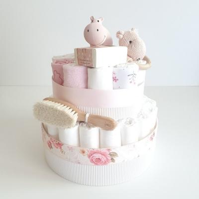 Plienková torta ružový hrošík