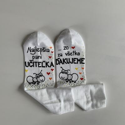 Maľované ponožky pre najlepšiu pani učiteľku 3