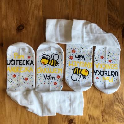 Maľované ponožky pre najlepšiu pani učiteľku 2