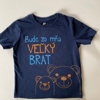 Maľované tričko pre VEĽKÉHO BRATA s macíkmi