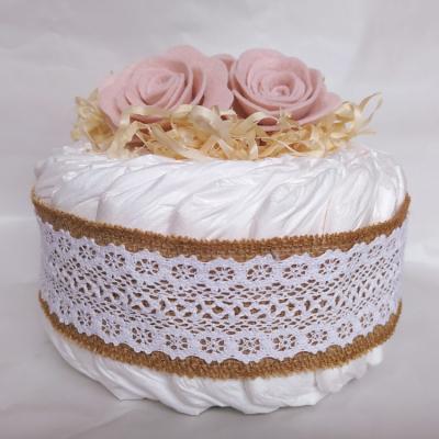 Plienkova vintage torta - ružová