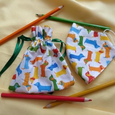 Detské rúško s vrecúškom