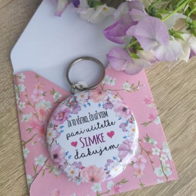 Kľúčenka so zrkadielkom v romantickej obáločke