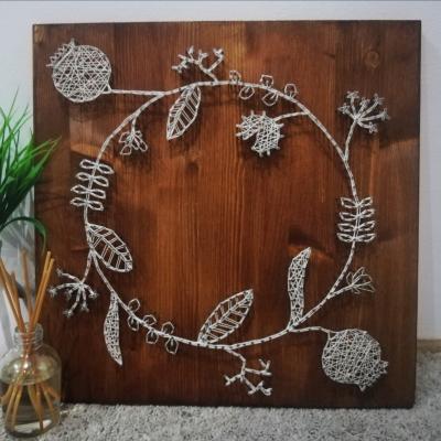 Kruh života (string art), vhodné aj ako fotorámik