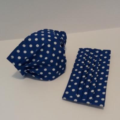 Bavlnené rúško - Modré