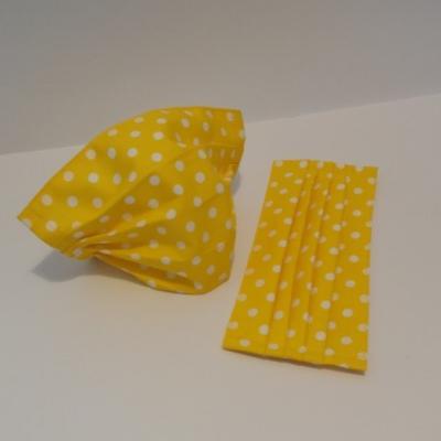 Bavlnené rúško - Žlté