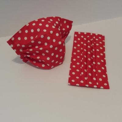 Bavlnené rúško - Červené