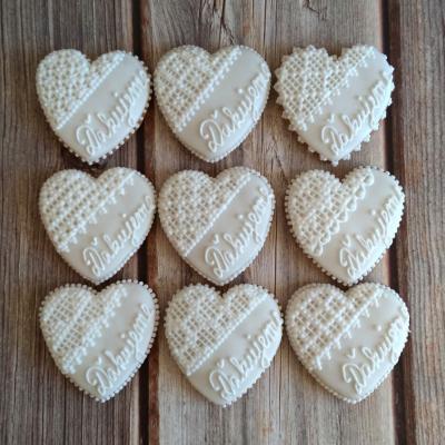 Svadobné perníkové srdcia 7,5 cm
