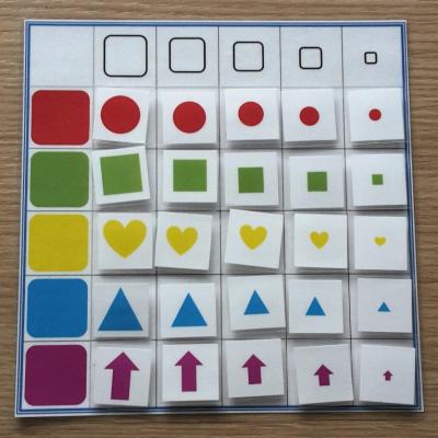 Farby a veľkosti - kombinacie