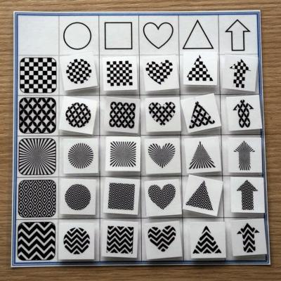 Farby a tvary - kombinacie - čierno-biela 1