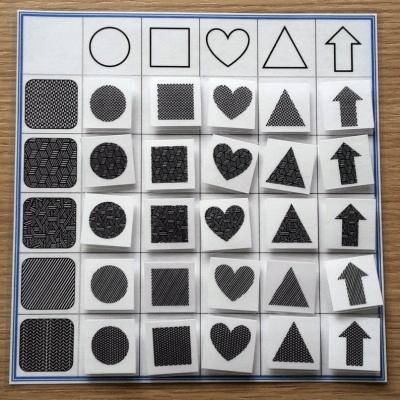 Farby a tvary - kombinacie - čierno-biela 2