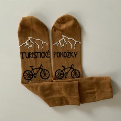 Maľované ponožky pre zanieteného turistu / cykloturistu