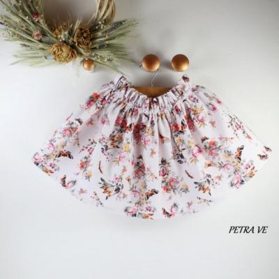Detská suknička - KVETY A MOTÝLE