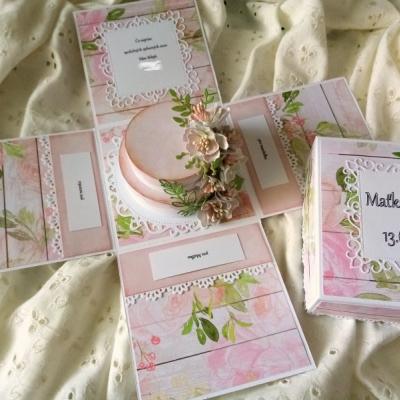 Svadobná gratulačná krabička / Exploding box